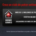 Jugar al poker online con amigos en Home Games Pokerstars